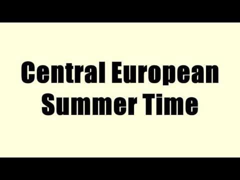 Central European Summer Time