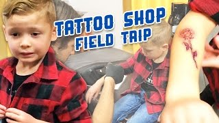 5 YEAR OLD GETS TATTOO