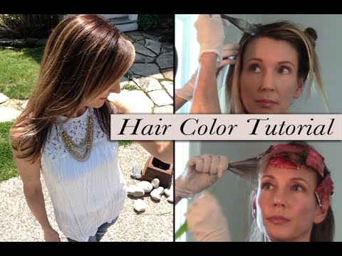 How To Color Hair At Home ~ Grey Root Coverage + Foil Highlights