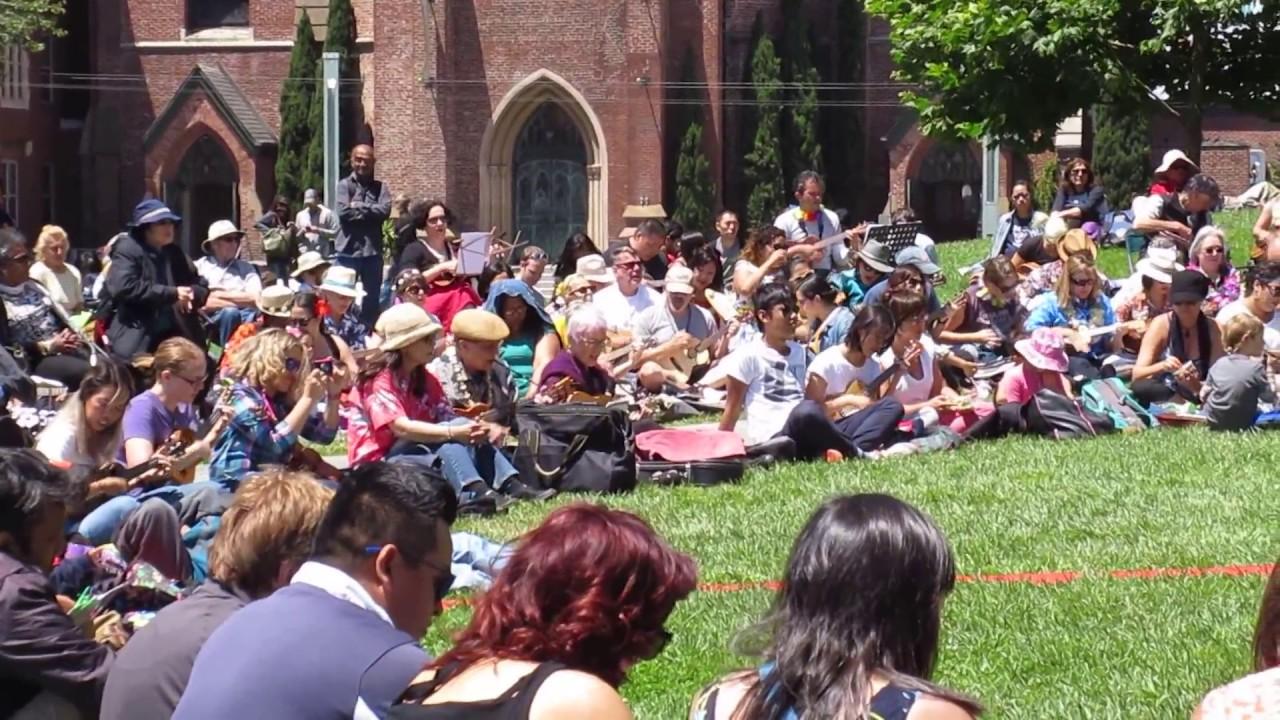 Brown Eyed Girl Sf Uke Jam Summer Uke Splosion Yerba Buena Gardens Festival San Francisco