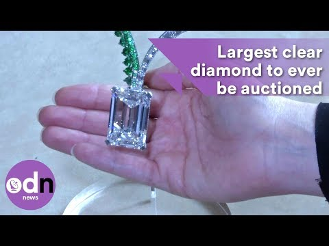 This is the largest clear diamond to ever be auctioned