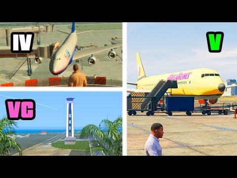 AIRPORTS in GTA GAMES (Evolution) |
