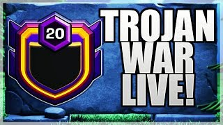 40 ATTACKS IN LAST 1 MIN! CRAZZZY TROJAN WAR CLASH OF CLANS•FUTURE T18