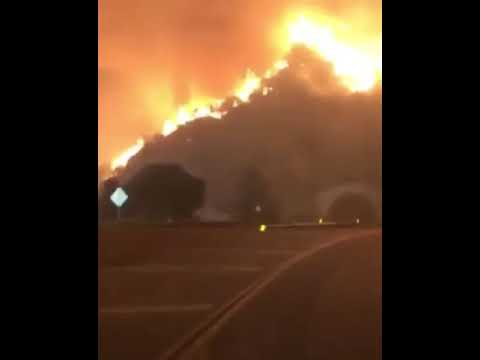 California, USA wild fire getting out of control.