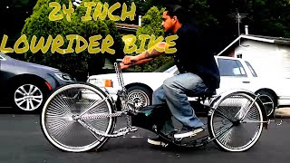 24 inch lowrider bike cruising