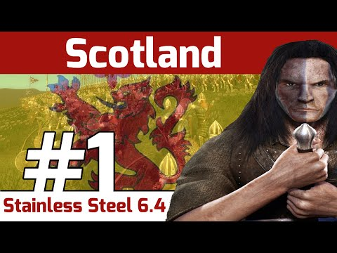 Let's Play - Stainless Steel 6.4 - Medieval 2 Total War: Scotland #1 - The Boys in Blue