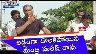 TRS Minister Harish Rao Rides Bullet Bike | Jordar News | HMTV