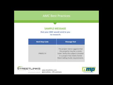 NMP Webinar: Fannie Mae's Collateral Underwriter - Does Your AMC Have You Covered?