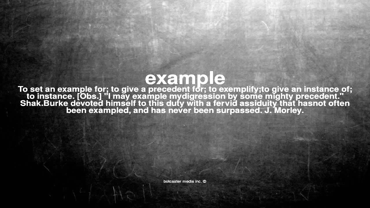 What Does Example Mean