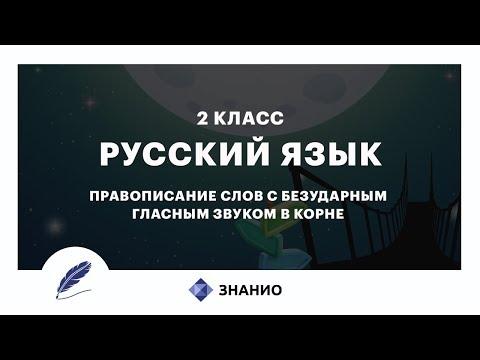 Русский язык | 2 класс | Правописание слов с безударными гласными | Урок 11 | Знанио