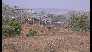 Nagpur Karmali AC Special Train With Brand New CBC Coaches Near Scenic Khardi !!!