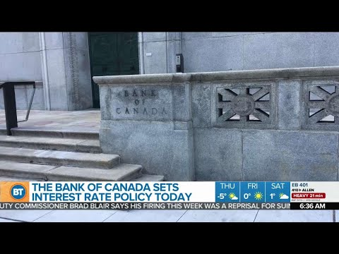 Bank of Canada sets interest rate policy Wednesday