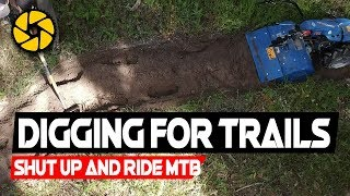 HOW TO BUILD MOUNTAIN BIKE TRAILS, PART 1 // How to make a rough banked turn