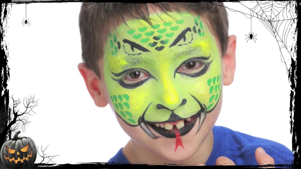 maquillage enfant serpent halloween youtube. Black Bedroom Furniture Sets. Home Design Ideas