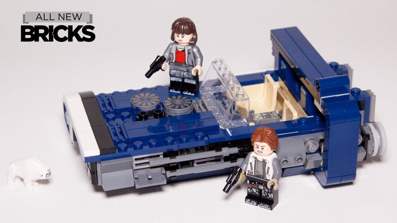 Lego Star Wars Han Solo's Landspeeder Lego Speed Build 75209 with Minifigure Animation