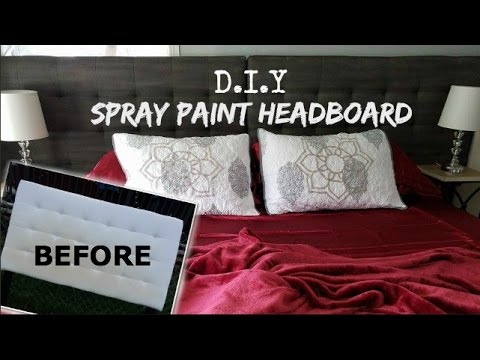 HOW TO SPRAY PAINT HEADBOARD (FABRIC)
