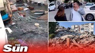 Turkey earthquake - Massive 7.0 quake rocks Izmir 'triggering tsunami'