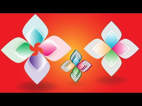 Illustrator Tutorial | Professional Best Logo Design Ideas - Colorful Abstract Flower thumbnail