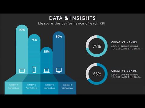 Beautiful & Minimalistic Dashboard For Business Presentation   Microsoft PowerPoint (PPT) Tutorial