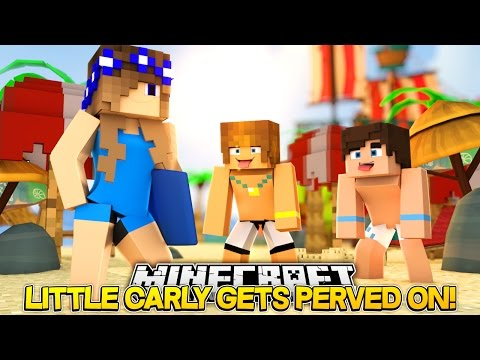 Minecraft Little Carly-SWIMMING POOL PSYCHO STALKS CARLY!!