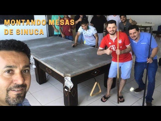 Montando mesas de sinuca em São Jorge d'Oeste e Foz do Iguaçu