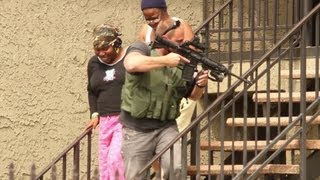 Heavily Armed Police Standoff