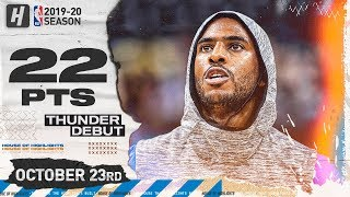Chris Paul OKC Thunder DEBUT Full Highlights vs Jazz (2019.10.23) - 22 Pts, 8 Reb , 3 Ast!