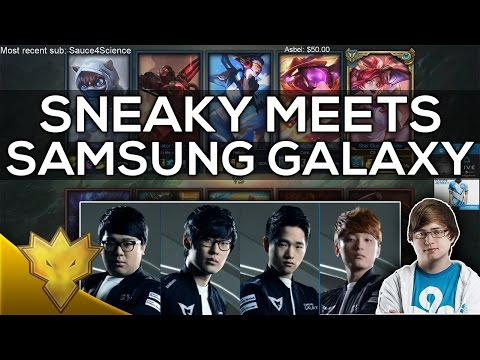 When Sneaky Meets Samsung Galaxy in NA Solo Queue... (ft. CuVee, Crown, Ambition, Ruler & CoreJJ)