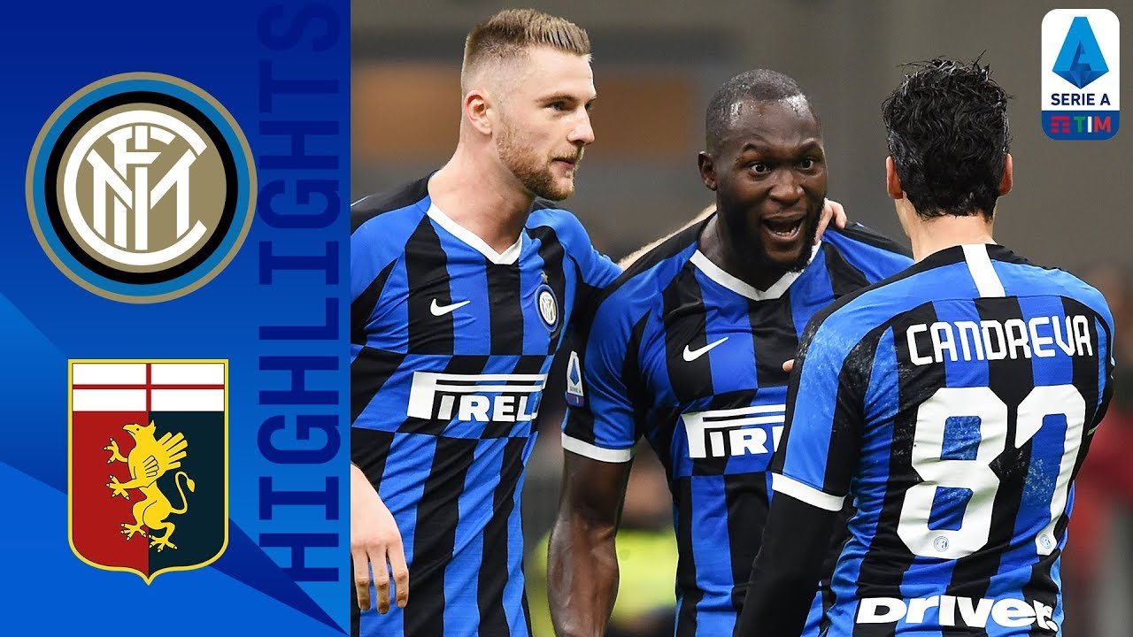 Inter Milan 4-0 Genoa | Lukaku Brace as Inter top the ...