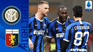Inter Milan 4-0 Genoa  Lukaku Brace as Inter top the Table  Serie A TIM