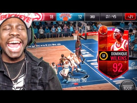 92 HARVEST LEGEND DOMINIQUE WILKINS POSTERIZES! NBA Live Mobile 16 Gameplay Ep. 44