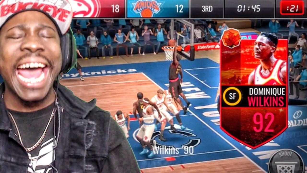 92 HARVEST LEGEND DOMINIQUE WILKINS POSTERIZES NBA Live Mobile 16