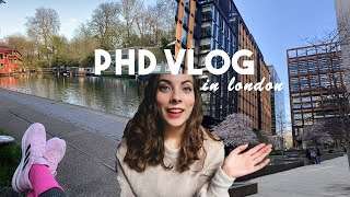 phd vlog in london | quarantine, new city, sport, work thesis