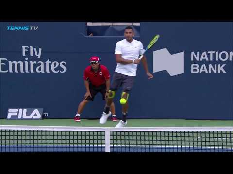 Nick Kyrgios hits three MONSTER forehands in loss to Wawrinka   Rogers Cup 2018