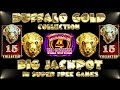 ⚠️MY BEST JACKPOT SO FAR in SUPER FREE GAMES in BUFFALO GOLD COLLECTION SLOT MACHINE
