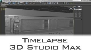 Time-lapse: Sci Fi Wall Parts Modelling - 3D Studio Max