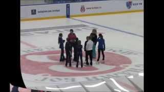 Открытый урок в школе фигурного катания Ирины Слуцкой