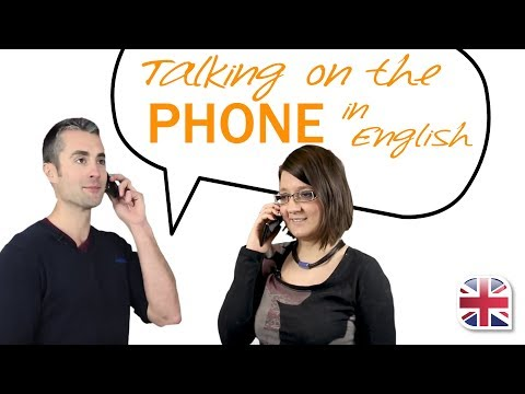 Talking On The Phone In English - English Phone Vocabulary Lesson