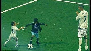 Edan !! Begini Aksi Ronaldo Junior Unjuk Kemampuan di Lapangan Hijau, Lihat Aksinya
