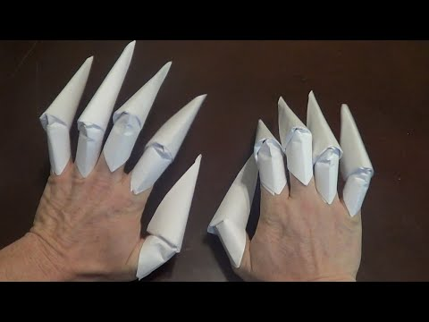 Origami Claws Tutorial Halloween Finger Claws Youtube