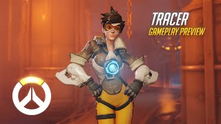 Tracer Gameplay Preview Overwatch 1080p HD 60 FPS
