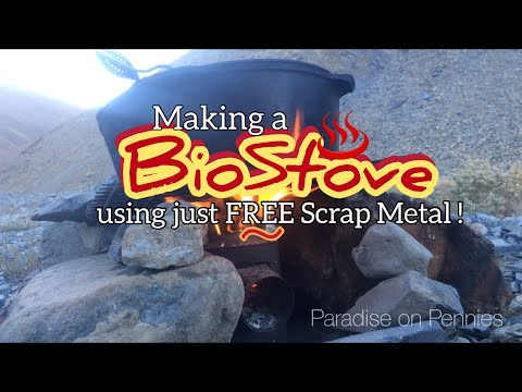 nomad-makes-biostove-from-garbage-scraps,-cooks-dinner...free-biostove!