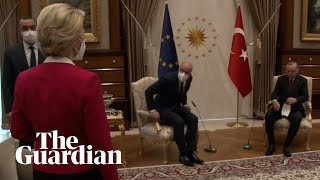 Ursula Von der Leyen snubbed in chair gaffe at EU-Erdoğan talks