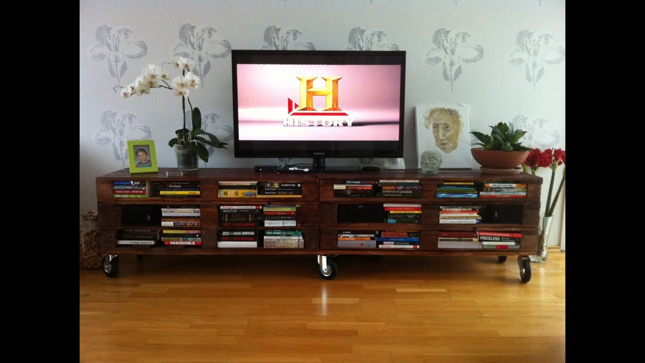 Mesas De Televisor Recopilatorio Mesas Tv Con Palets Diy Principiantes Tv Table Compilation With Pallet