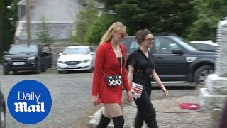 Sophie Turner arrives at Kit Harington's wedding in daring outfit
