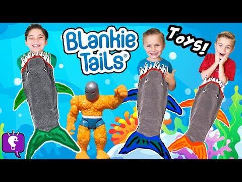 MEGA 🦈 SHARK WEEK Surprises! BlankieTail Sharks, Swim Pool Shark Goggle + Toys HobbyKidsTV
