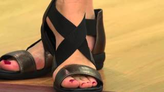 Clarks Artisan Leather & Stretch Sandals - Reid Solana with Leah Williams