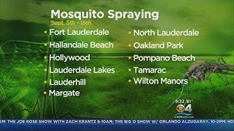 Broward Spraying For Mosquitoes In Several Cities