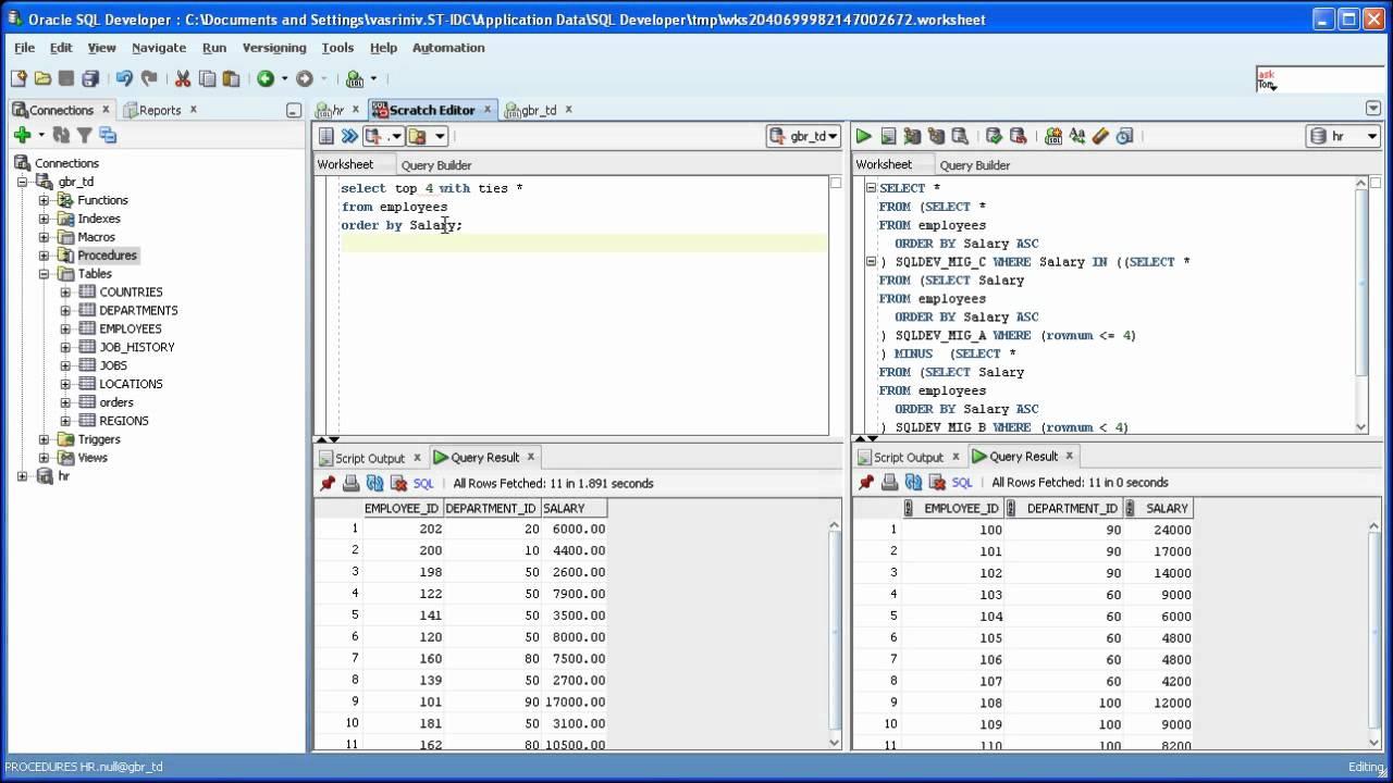 SQL Developer 31 Teradata SQL To Oracle Sql Translation