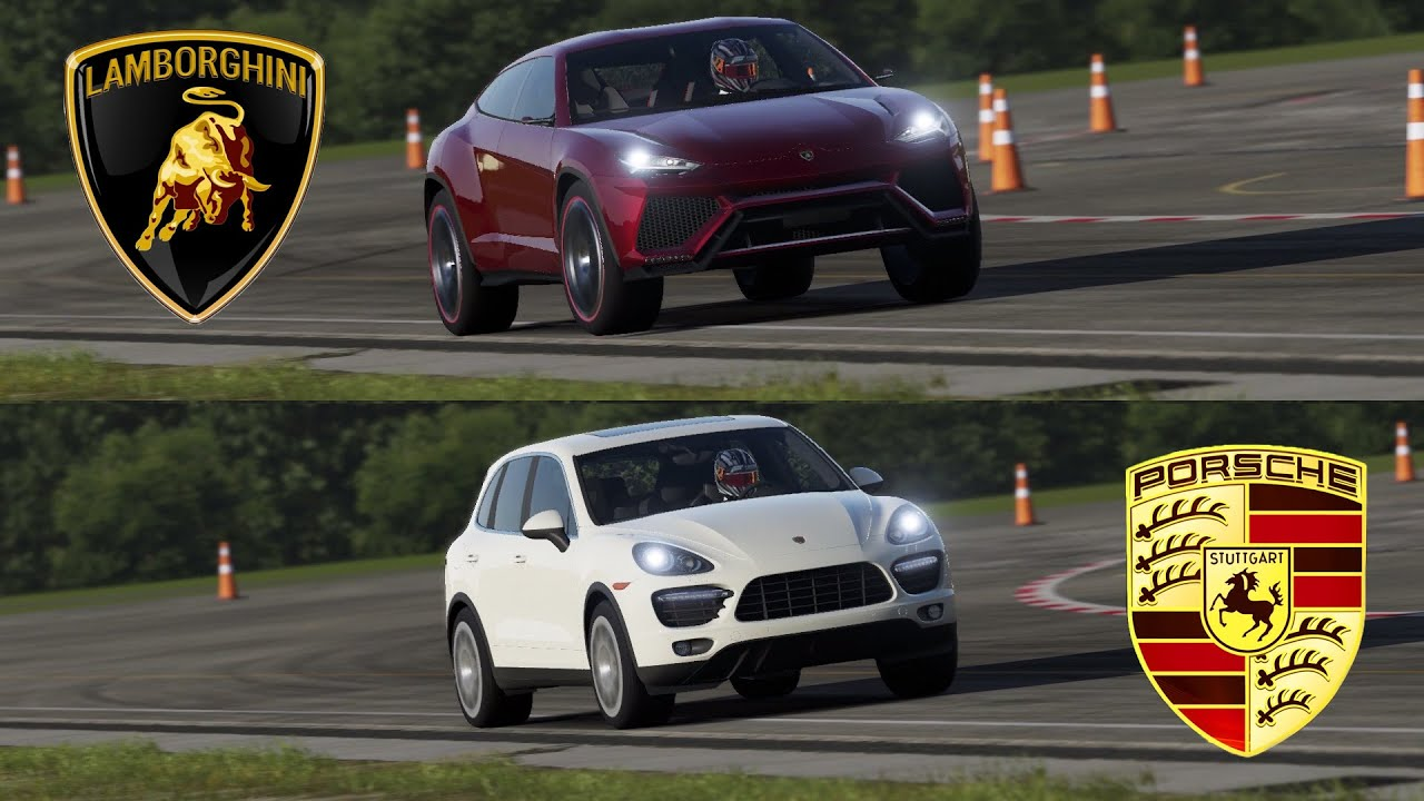 Lamborghini Urus Vs Porsche Cayenne Turbo Top Gear Track